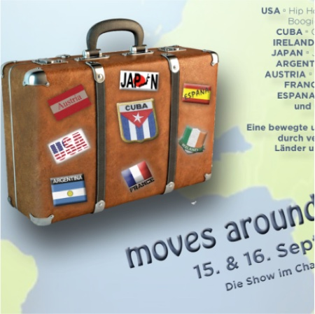 moves around the world